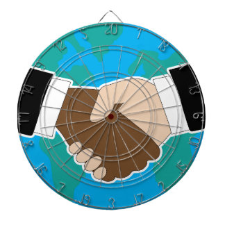 Sacudida de la mano del mundo tabla dardos