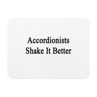 Sacudida de los acordeonistas él mejor imán flexible