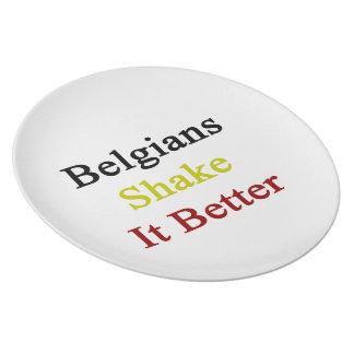 Sacudida de los belgas él mejor platos