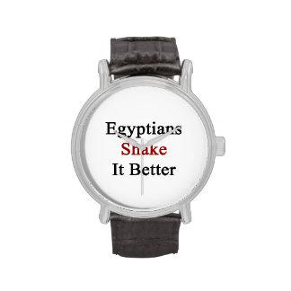 Sacudida de los egipcios él mejor
