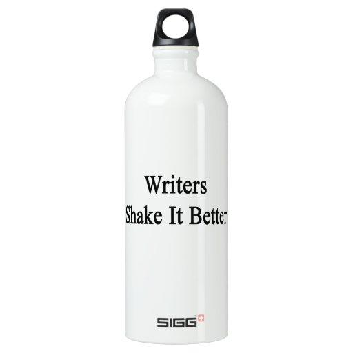 Sacudida de los escritores él mejor