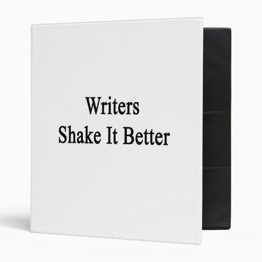 """Sacudida de los escritores él mejor carpeta 1"""""""