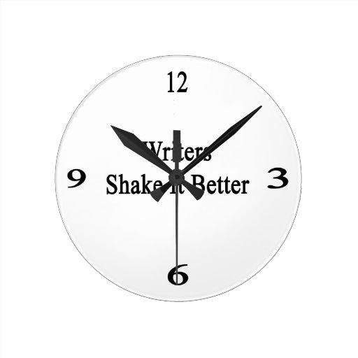 Sacudida de los escritores él mejor reloj redondo mediano