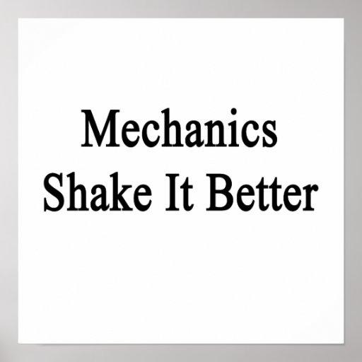 Sacudida de los mecánicos él mejor poster