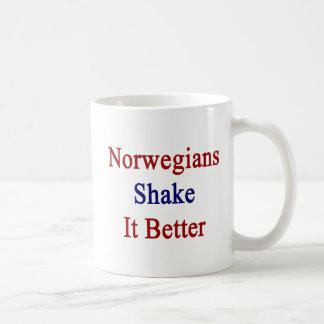 Sacudida de los noruegos él mejor taza básica blanca