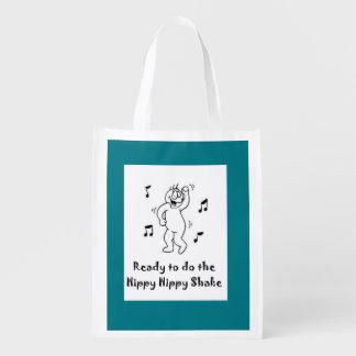 Sacudida del hippy del hippy - cirugía divertida bolsas reutilizables