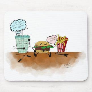 ¡Sacudida, hamburguesa, y fritadas! Mousepad Alfombrillas De Ratón