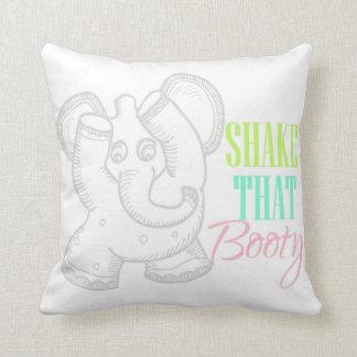 Sacudida linda del elefante del baile esa almohada