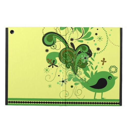 Sacudida verde su pájaro de las plumas de cola
