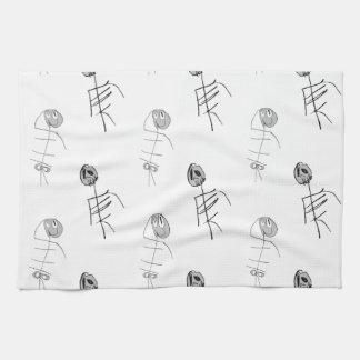 Sacudidas esqueléticas toallas de mano