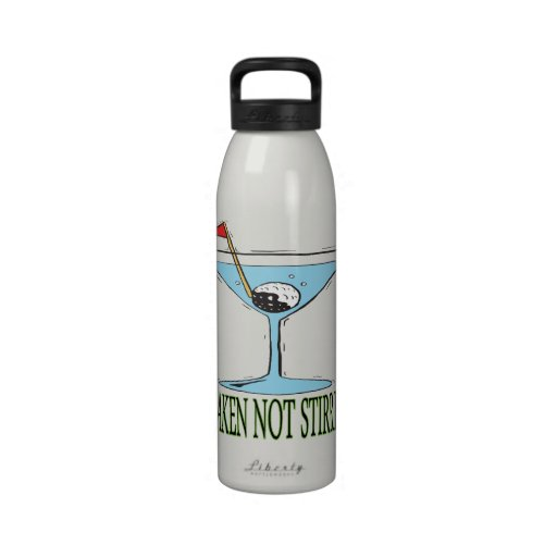 Sacudido no revuelto botellas de agua reutilizables