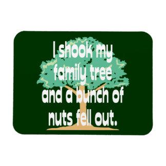 Sacudió mi árbol de familia imanes de vinilo