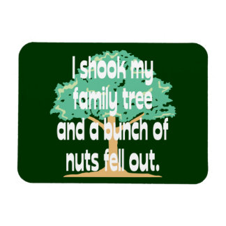 Sacudió mi árbol de familia imán de vinilo