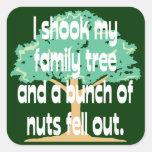 Sacudió mi árbol de familia pegatinas cuadradas