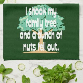 Sacudió mi árbol de familia toallas