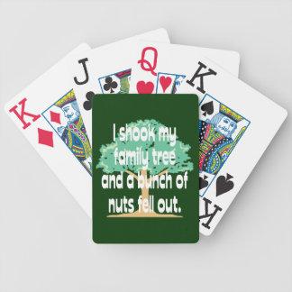 Sacudió mi genealogía del árbol de familia baraja cartas de poker