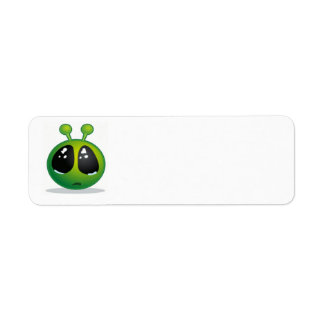 Sad Alien Smiley Label