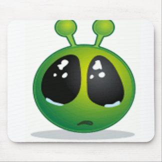 Sad Alien Smiley Mouse Pad