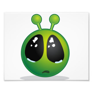 Sad Alien Smiley Photo Print