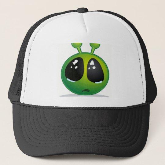 Sad Alien Smiley Trucker Hat