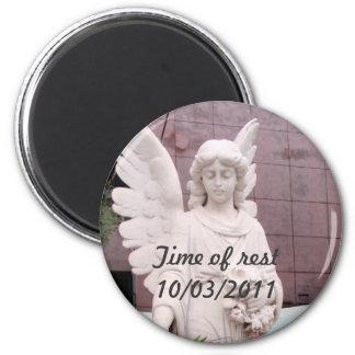 Sad Angel 2 Inch Round Magnet