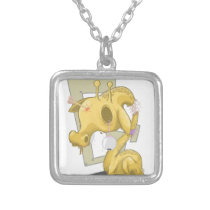 Sad Animal Silver Plated Necklace