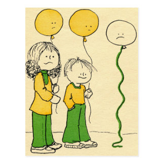 Sad Baloons Postcard