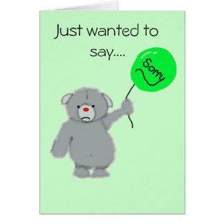 sad bear, card