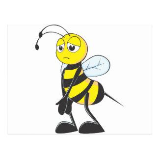 Sad Bee Postcard