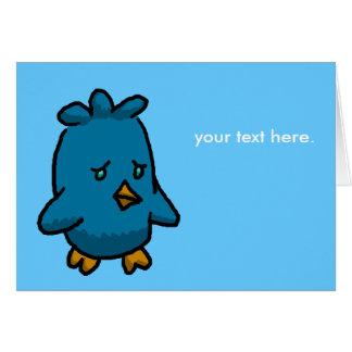 Sad Bird of Happiness Card