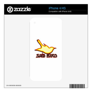 Sad Bird Skins For The iPhone 4S