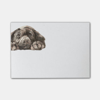 Sad Black Labrador Retriever Dog Pet Animal Post-it Notes