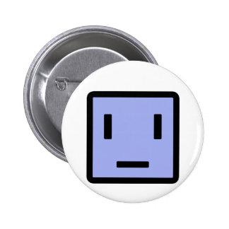 Sad Block Pinback Button