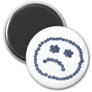 Sad blueberry smile magnet