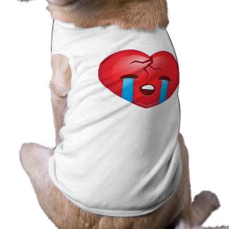 Sad Broken Heart Emoji T-Shirt