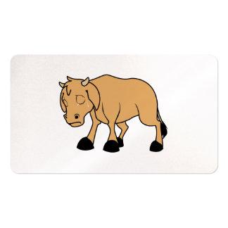Sad Brown Calf World Vegetarian Day Animal Rights Business Card
