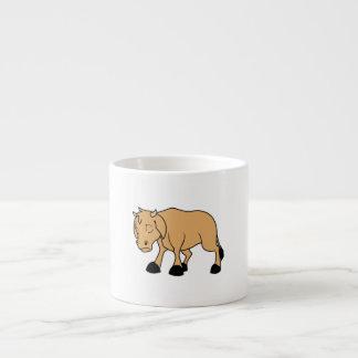 Sad Brown Calf World Vegetarian Day Animal Rights Espresso Cup