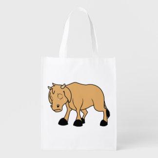 Sad Brown Calf World Vegetarian Day Animal Rights Grocery Bag