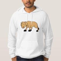 Sad Brown Calf World Vegetarian Day Animal Rights Hoodie