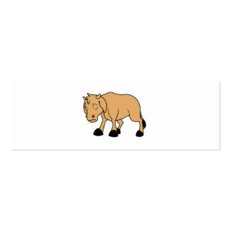 Sad Brown Calf World Vegetarian Day Animal Rights Mini Business Card