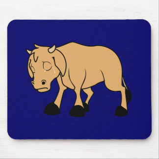 Sad Brown Calf World Vegetarian Day Animal Rights Mouse Pad
