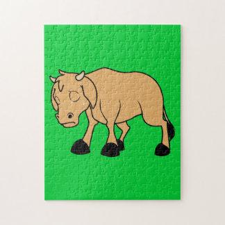 Sad Brown Calf World Vegetarian Day Animal Rights Puzzles
