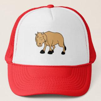 Sad Brown Calf World Vegetarian Day Animal Rights Trucker Hat