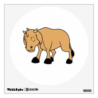 Sad Brown Calf World Vegetarian Day Animal Rights Wall Sticker