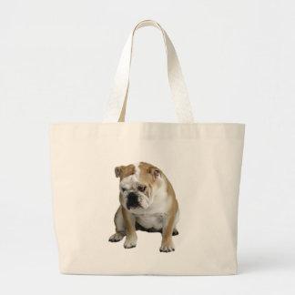 Sad Bulldog Large Tote Bag