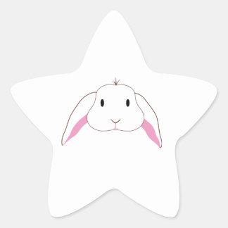Sad Bunny Star Sticker