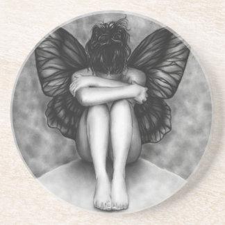 Sad Butterfly Girl Coaster