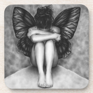 Sad Butterfly Girl Coaster Set