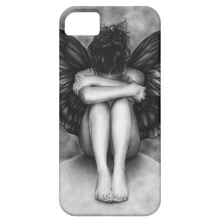 Sad Butterfly Girl iPhone Case iPhone 5 Cases