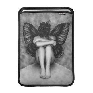 Sad Butterfly Girl Macbook Sleeve